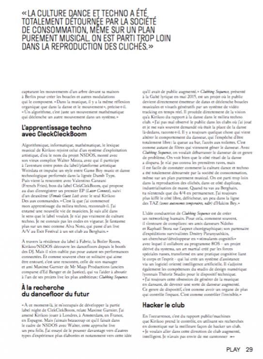 NSDOS – COVER TRAX MAGAZINE (FR)