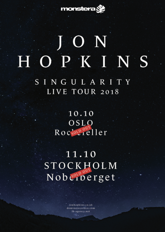 JON HOPKINS OSLO & STOCKHOLM